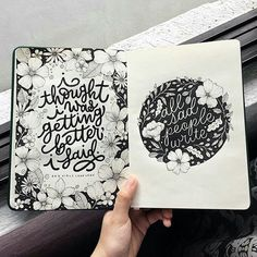 Check out lettering on lines inside Sad Girls! 💕 Get more tips inside first book, the ABC's of… Hand Lettering Quotes, Creative Lettering, Types Of Lettering, Brush Lettering, Lettering Design, Calligraphy Letters, Typography Letters, Agendas Diy, Graffiti