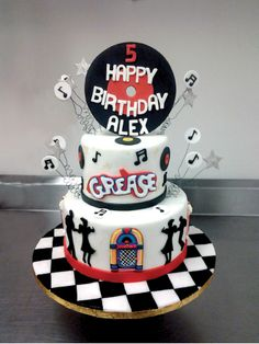 Grease themed birthday cake!