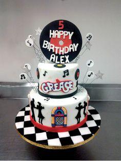 Grease themed birthday cake!