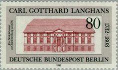 Der autodidaktische Architekt: http://d-b-z.de/web/2012/12/15/briefmarke-langhans-architektur/