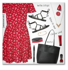 """""""- Sweet Summer -"""" by fashionablemy ❤ liked on Polyvore featuring Miss Selfridge, Street Level, Louis Vuitton, Kenneth Jay Lane, MAC Cosmetics, Gosh, Oribe, La Senza, Lord & Berry and Rebecca Minkoff"""