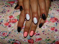 #women   #nails   #nailart   #nailpolish   #naildesign   #manicure   #loveit   #smilac   #hybrid   #white   #orange   #black   #glitter   #facebook   #mermaid   #effect   #poland   #girl   #beautiful   #likeforlike