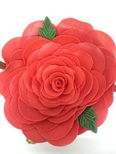 Rosa vermelha! Artesanato flor de Liz! Escolha sua cor preferida!