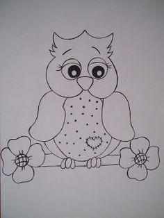 Love this adorable owl, lots of ideas. Owl Templates, Applique Templates, Applique Patterns, Quilt Patterns, Colouring Pages, Coloring Sheets, Coloring Books, Owl Crafts, Owl Patterns