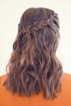 wedding hairstyles easy hairstyles hairstyles for school hairstyles diy hairstyles for round faces p Messy Hairstyles, Pretty Hairstyles, Wedding Hairstyles, Brunette Hairstyles, Hairstyles 2018, Black Hairstyles, Ladies Hairstyles, Hairstyles For Dances, Simple Braided Hairstyles