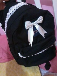 Decorated backpack