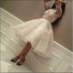 Charming Prom Dress,Knee Length Prom Dress,Appliques Prom Dress,Long