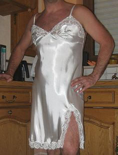 Satin Full slip - Works on some men too. They are very good feeling.