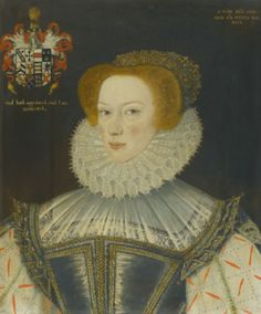 Attributed to George Gower  PORTRAIT OF JENNET PARKINSON, WIFE OF CUTHBERT HESKETH OF WHITEHILL, LANCASHIRE. Inscribed Anno Dni 1580.