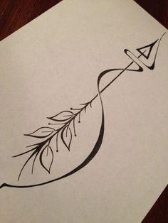 tattoo – Pfeil-Tattoo: Wenn Leben Sie nach hinten zieht, Sie immer Frühling wieder nach vorn. vol 1847 | Fashion & Bilder
