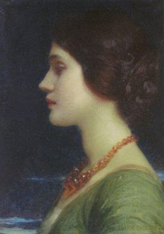 Sir Frank Dicksee P.R.A. (1853-1928) Portrait of Dora. He was a member of The Artists Rifles and one of five members of the Regiment to have been elected President of the Royal Academy.