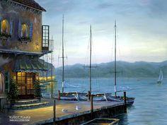 Robert_Finale_art_paintings_Cafe_Santorini.jpg (700×525)
