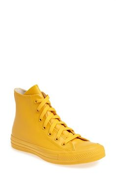 O......M......G.......Chuck Taylor® All Star® Waterproof Rubber Rain Sneaker (Women) | Nordstrom - 6 colors - $65. Need. These. Now. (I like the pine-colored ones)
