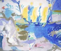 Artist: Helen Frankenthaler  Date: July 1958 Style: Abstract Expressionism Basque Beach