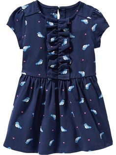 Old Navy | Patterned Ruffle-Front Dresses for Baby