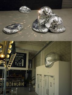 Melted disco balls.