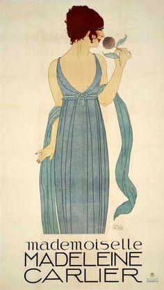 Paul Iribe - Illustration - Mademoiselle Carlier - Vers 1910