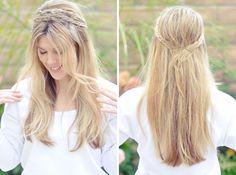 Messy Rope Braid Headband | 28 DIY Hairstyles