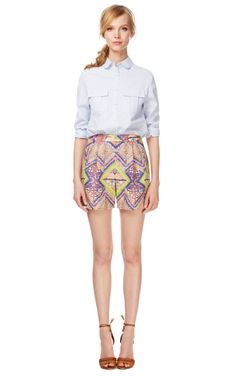 Raj Lined Tailored Shorts by Matthew Williamson