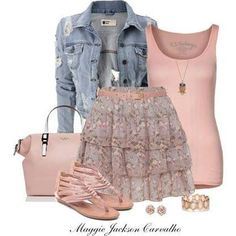 Cute summer look!! Yeah Molly, I know you dont like pink....but this would be so cute on you