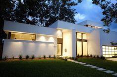 modern home   white exterior