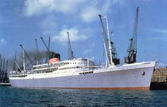 RMMV Capetown Castle 27,000 gwt. Built in 1938, average speed 20kts. She was one of the 7 lavender hulled ships that comprised the Union-Castle mail service.