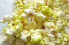 This recipe for WASABI POPCORN was created by a junior at Duke University while studying in Cape Town, South Africa. Seems that everyone at the University of Cape Town walks around campus with huge carnival-esque bags of popcorn, but not necessarily the wasabi flavored kind.