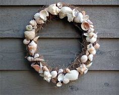 This has always been one of our favorite Oceans Unit Study projects - seashell wreaths made with grapevine wreaths and a low temp glue gun - beautiful! #unitstudies