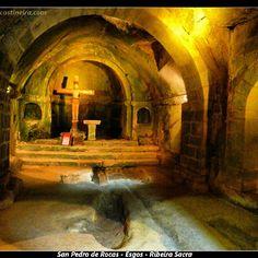 Interior del Monasterio de San Pedro de Rocas #RibeiraSacra #Ourense #Spain by @Caserío da Castiñeira via Instagram