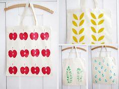 Kostenlose Anleitungen: Schönsten Ideen zum Bedrucken von Textilien / best diy tutorials for printing your textiles via DaWanda.com