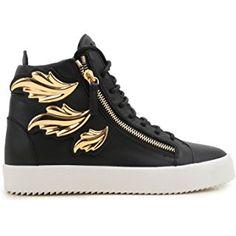 Giuseppe Zanotti Design Black Leather Hi Top Sneakers