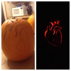 When cardiac nurses carve pumpkins.