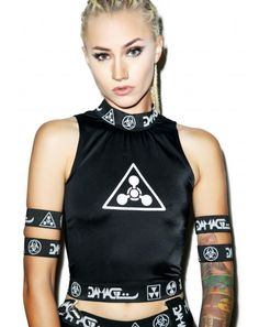 DAMAGE Logo Garter Shorts | Dolls Kill