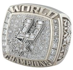 Spurs 2003 NBA Championship Ring by BrandJewelryStore on Etsy Spurs Logo, Nba Rings, Nba Championship Rings, Super Bowl Rings, Ring Of Honor, Sports Today, Basketball Pictures, Larry Bird, Dallas Mavericks