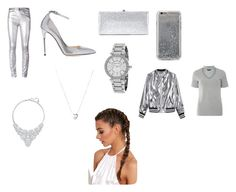"""Silver"" by didemm22 on Polyvore featuring Étoile Isabel Marant, Jimmy Choo, Agent 18, Michael Kors, Links of London, Sans Souci, Swarovski and Dorothy Perkins"