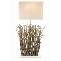 Lampe NERIKOH lightings - Bleu nature www. Bleu Nature, Wooden Floor Lamps, Cafe Concept, Sticks And Stones, Diffused Light, Nature Crafts, Cool Lighting, Lamp Light, Sconces