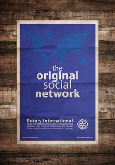 Rotary – The Original Social Network Minimal Art Poster