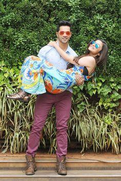 Varun Dhawan sweeps Alia Bhatt off her feet (literally)! #Style #Bollywood #Fashion #Beauty