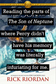 Trying to read the son of Neptune with amnesic Percy Percy Jackson Books, Percy Jackson Fandom, The Last Olympian, Son Of Neptune, Team Leo, Wise Girl, Leo Valdez, Annabeth Chase, Rick Riordan Books