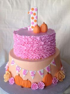 Little Pumpkin Party pumpkin cake pink rufflesPink (disambiguation) Pink is a pale red color. Pink, Pinks, or Pink's may also refer to: Pumpkin Birthday Cakes, Fall Birthday Cakes, Pumpkin Patch Birthday, Pumpkin Patch Party, Pumpkin Birthday Parties, Pumpkin First Birthday, Birthday Cake Girls, Birthday Ideas, 2nd Birthday