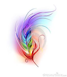 rainbow feather tattoos - Google Search