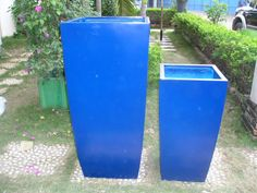 Fancy Outdoor Tall Square Planters With Toulan Planter Cobalt Blue (Set Of Large Ideas - Tall White Outdoor Planters, Tall Outdoor Planters Sale. Tall Outdoor Planters, Urn Planters, Square Planters, Planter Boxes, Crown Of Thorns Plant, Interior Design And Remodeling, Planting Shrubs, Landscape Fabric, Large Plants