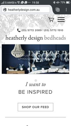 Bespoke bedheads. By appointment only