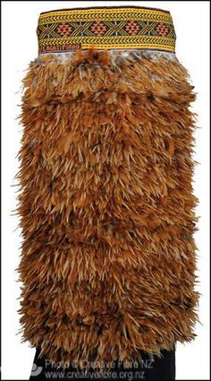 #feathers Korowai Huruhuru (Helen Renner, Bay of Plenty) --- Far North Award (for the most creative use of New Zealand design or material). Maori feather cloak with Taniko border.