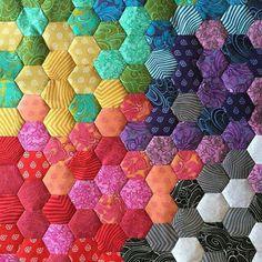 Tula Pink fabric. English paper piecing. Gorgeous!