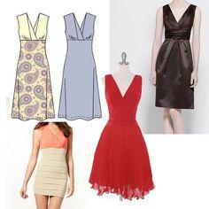 Patron gratuit : robe col en V et bretelles croisées pour de nombreuses possibilités