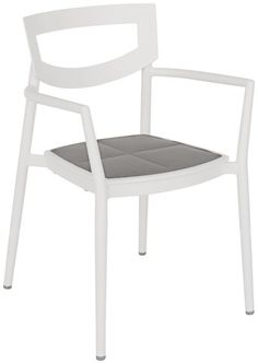 Produkt-Detailansicht von GO IN Haley Stuhl 1200 - Stuhl: Aluminium pulverbeschichtet, weiß
