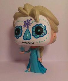 Funko Pop Vinyl Custom Day of The Dead Disney Frozen Elsa | eBay