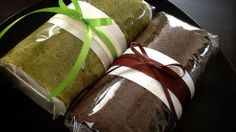 Green Tea and Chocolate Roll Cakes♪
