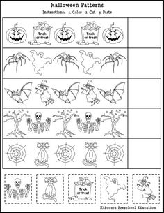 Halloween Song and Free Printable Halloween Math Worksheet for Kids!